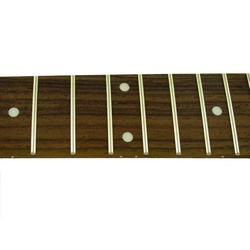 Fingerboard for guitar w dot inlays - fretted