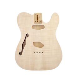Replacement body for Tele - no finish - maple top - thinline - Alder