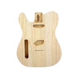 Replacement body for Tele - no finish - Swamp Ash - Left hand