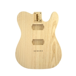 Replacement body for Tele - no finish  - 2 humbucker rout - Swamp ash