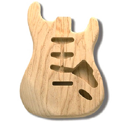 Replacement body for Strat  - no finish - Swamp ash