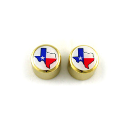 Dome knob w Texas flag  fits split shaft pots