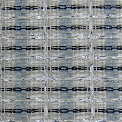 "Grill cloth - Fender style - blue/white/silver - 36"" wide (per yard)"