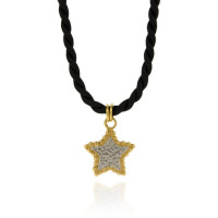 N-N18 16 Cord with Silver & GP Bobble Star