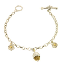 B-B03 3-charm bracelet