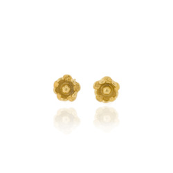 B-E09gp Gold-Plated Flower studs