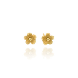 B-E10gp Mini-flower studs, fully Gold-Plated