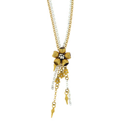 B-N05gp Gold-Plated Gumnut Flower Necklace