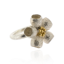 B-R01 Eucalyptus cup flower (diam. approx 23 mm) on 3 mm round band