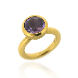 B-R04gp_am Acorn Cup Ring, Amethyst