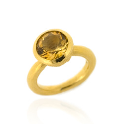 B-R04gp_ct Acorn Cup Ring, Citrine