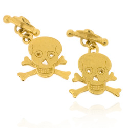 N-C16 GP Skull & Crossbones with chain & T-bar clasp