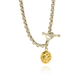 T-N08 Round medium belcher chain & Gold Plated charm
