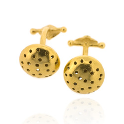 T-C04 Gold-Plated Cufflinks with T-bar clasp