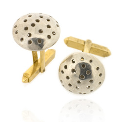 T-C01 Telegraf cufflinks diameter 16 mm silver