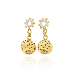 T-E21 Wheel Studs with Gold-Plated Large Charms
