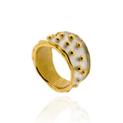 N-R05 Silver & Gold Plated Bobble Ring
