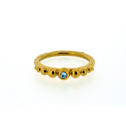 N-R02 Gold-Plated Mini Bobble Band with 2 mm diamond