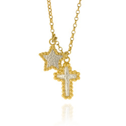N-N03 GP Fine Belcher with Silver & GP Bobble Star & Cross