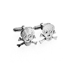 N-C05 Skull & crossbones cufflinks in Sterling Silver