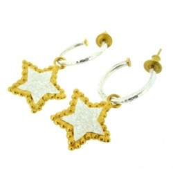 N-E30 Star silver earring hoops