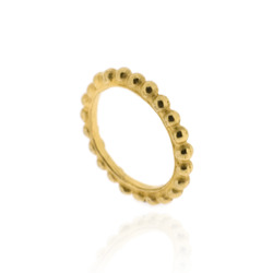 N-R01gp Single Gold Plated Bobble Band