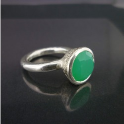 B-R04ch Acorn Cup Ring with Chrysoprase