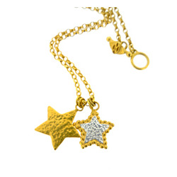 N-N09 Double Gold Star Pendant