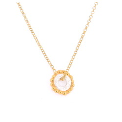 N-N23 Gold Bobble Circle Pendant