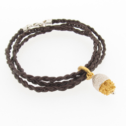 B-BL01 Silver Gumnut Leather Bracelet
