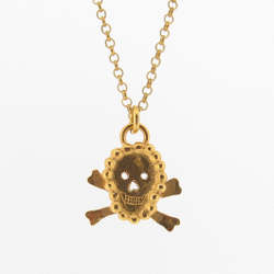N-N32 Gold Plated Mini Skull Pendant