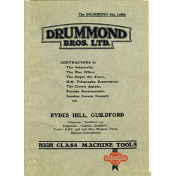 The Drummond 4in. Lathe