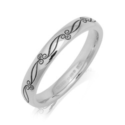 Vintage Scroll Wedding Ring