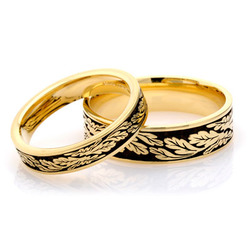 Fern Leaf Wedding Ring