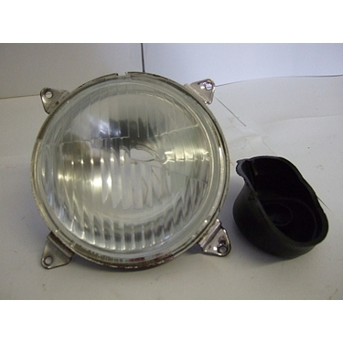 Headlamp round - for most Massey Ferguson 100/200/500/600 series (LH dip)