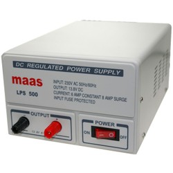 Maas lps-500 bench power supply linear 13.8v dc, 8a