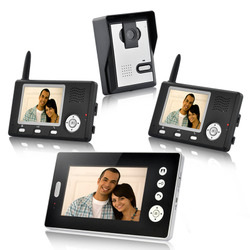 Wireless Video Door Phone with Triple Receivers