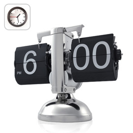 RETRO FLIP DOWN CLOCK- INTERNAL GEAR OPERATED