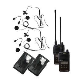 Paragliding Radio setup for use with open helmets