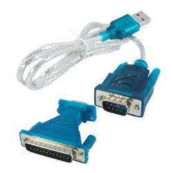 1.8M USB TO 9 Pin DB9 RS232 Cable + DB9/DB25 Parallel Adapter