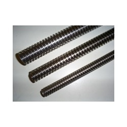 TRI40X7D Stainless Steel Trapezoidal Right Hand Spindle / Leadscrew DIN103 (AISI 316L) X2CrNiMo17.12.2