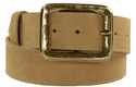 gold square belt buckle