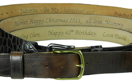 Personalise your Belt