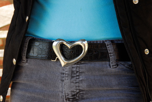 pewter heart belt buckle