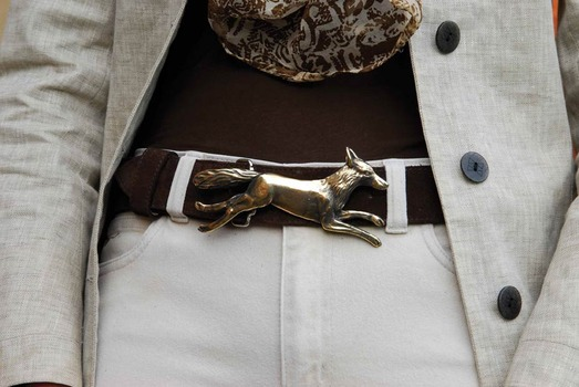 Brass fox buckle
