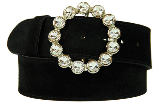 "2"" round diamante belt buckle"
