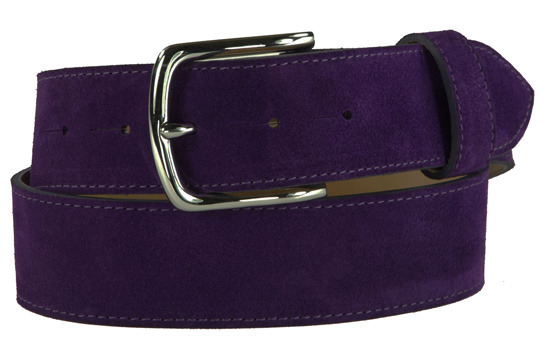 Purple suede belt