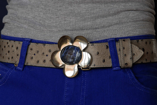 blue cosmos belt buckle