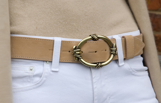 gold knot belt buckle