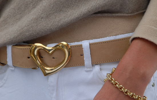 solid brass heart belt buckle